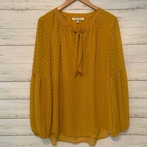 Black Rainn Mustard Blouse